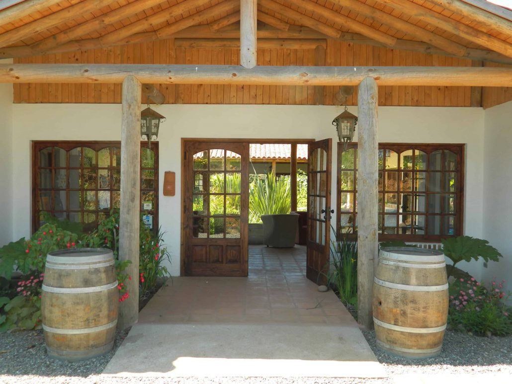 Main entrance with barrels - La Mirage Parador