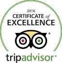award tripadvisor excellence 2016